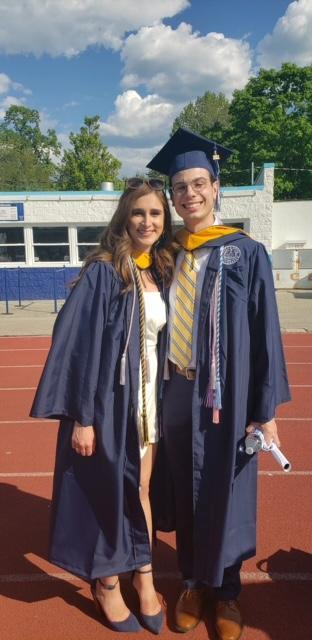 Julianna & Abe at graduation